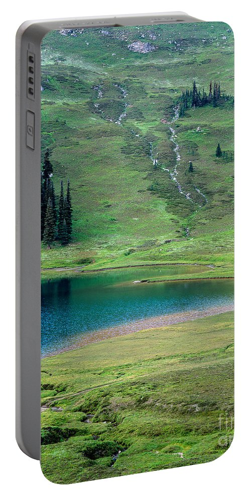Glacier Peak Wilderness Portable Battery Charger featuring the photograph Image Lake by Tracy Knauer