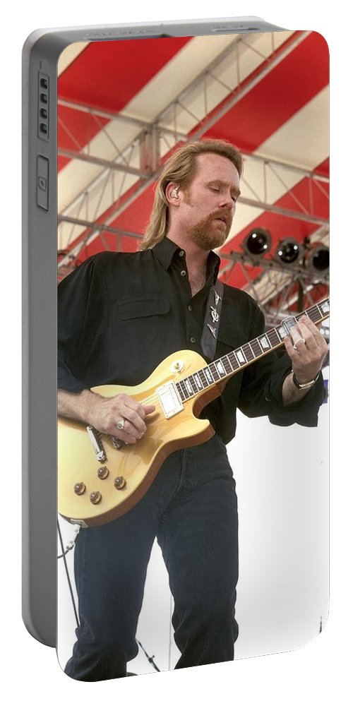 .photos Portable Battery Charger featuring the photograph Lee Roy Parnell by Concert Photos