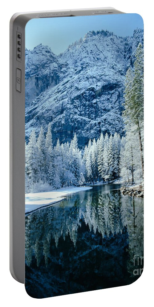 Merced River Portable Battery Charger featuring the photograph Merced River Reflection 2 by Tracy Knauer
