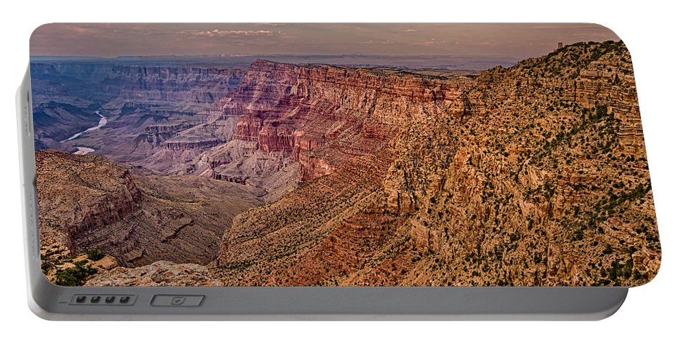 Grand Canyon Portable Battery Charger featuring the digital art Navajo Viewpoint In Grand Canyon National Park by Bob and Nadine Johnston