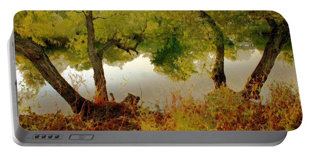 Nature Portable Battery Charger featuring the photograph Old Country by Linda Sannuti