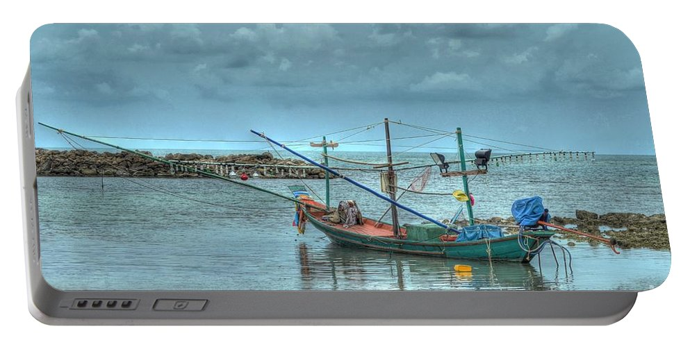 Michelle Meenawong Portable Battery Charger featuring the photograph Ready For A Night Fishing by Michelle Meenawong