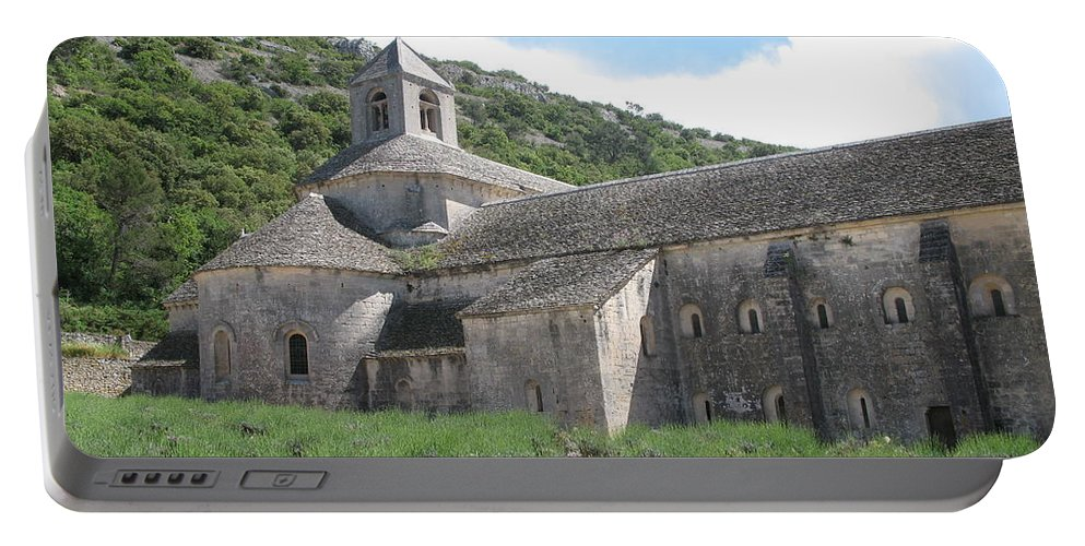 Abbey Portable Battery Charger featuring the photograph Senanque Abbey by Christiane Schulze Art And Photography