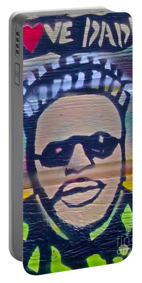 Spike Lee Portable Battery Charger featuring the painting Senor Love Daddy by Tony B Conscious
