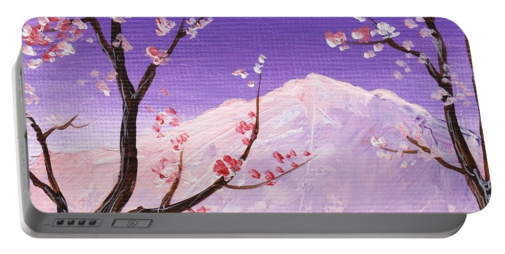 Malakhova Portable Battery Charger featuring the painting Spring Will Come by Anastasiya Malakhova