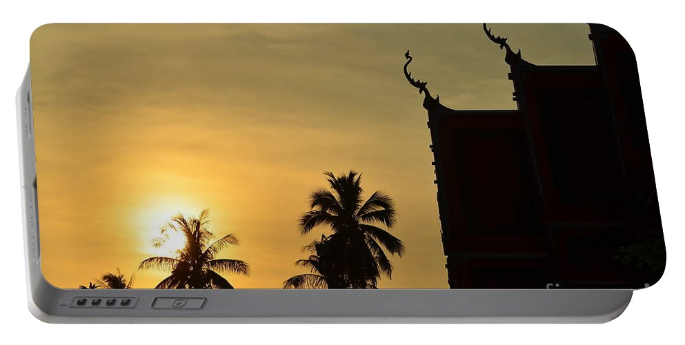Nature Portable Battery Charger featuring the photograph Sunset In The Tempel by Michelle Meenawong