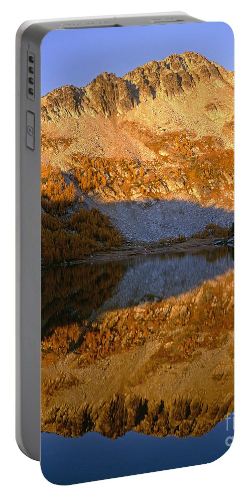Lake Portable Battery Charger featuring the photograph Switchback Peak On Cooney Lake by Tracy Knauer