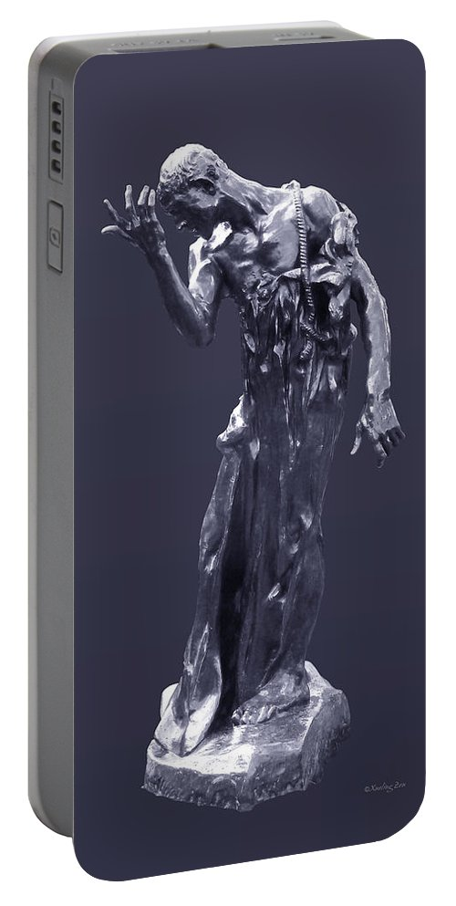 1889 Portable Battery Charger featuring the photograph The Sculpture Of Auguste Rodin by Xueling Zou
