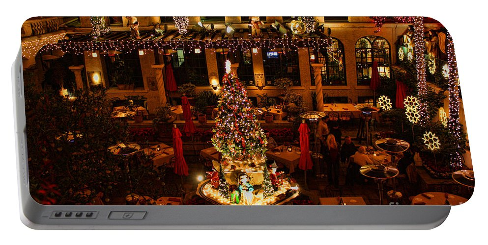 Mission Inn Portable Battery Charger featuring the photograph  by Tommy Anderson