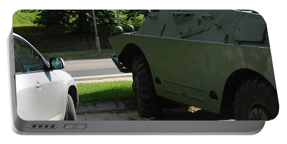 Future Portable Battery Charger featuring the photograph Vehicle Of The Future by Oleg Konin