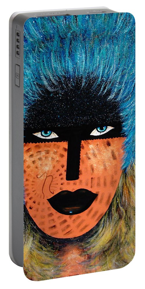 Woman Portable Battery Charger featuring the painting Viva Niva by Natalie Holland