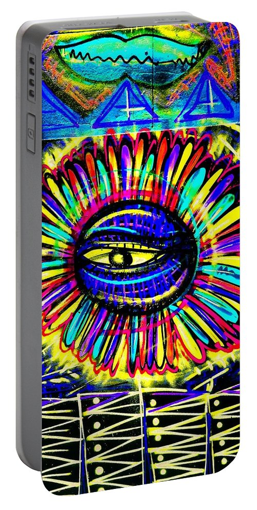Mark J Dunn Portable Battery Charger featuring the photograph Wall Flower by Mark J Dunn