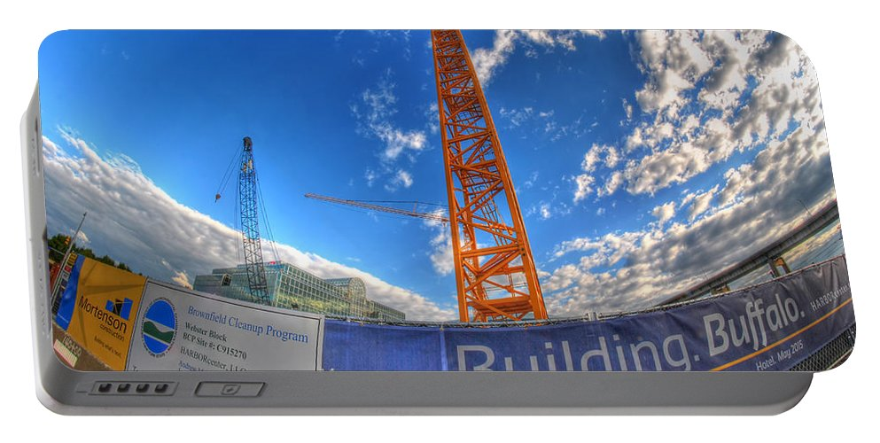 Buliding Buffalo Portable Battery Charger featuring the photograph 001 Building Buffalo by Michael Frank Jr