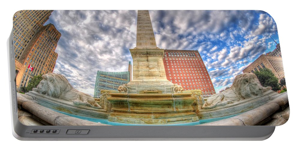Queen City Portable Battery Charger featuring the photograph 001 Sleeping Lions by Michael Frank Jr