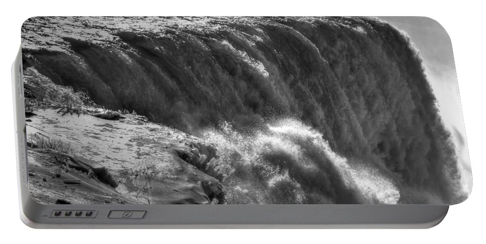 Niagara Falls Portable Battery Charger featuring the photograph 0010a Niagara Falls Winter Wonderland Series by Michael Frank Jr