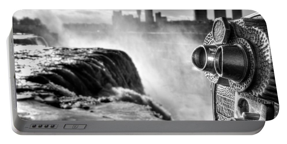 Niagara Falls Portable Battery Charger featuring the photograph 0016a Niagara Falls Winter Wonderland Series by Michael Frank Jr