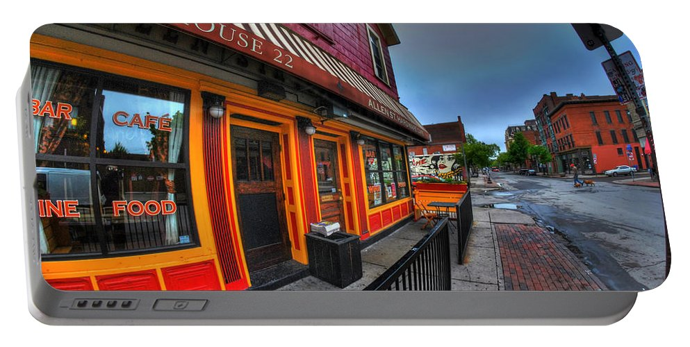 Allentown Portable Battery Charger featuring the photograph 002 Allen St Hardware by Michael Frank Jr