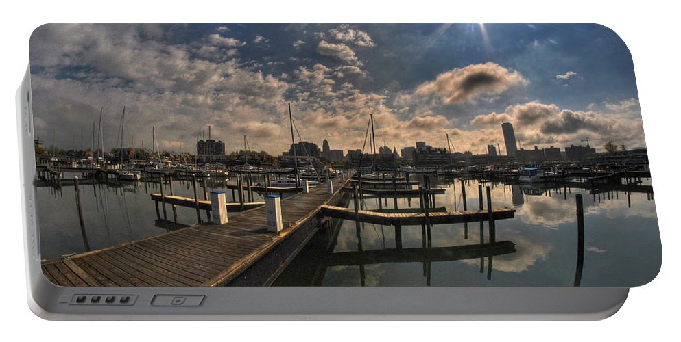 Allentown Portable Battery Charger featuring the photograph 002 Erie Basin Marina D Dock by Michael Frank Jr