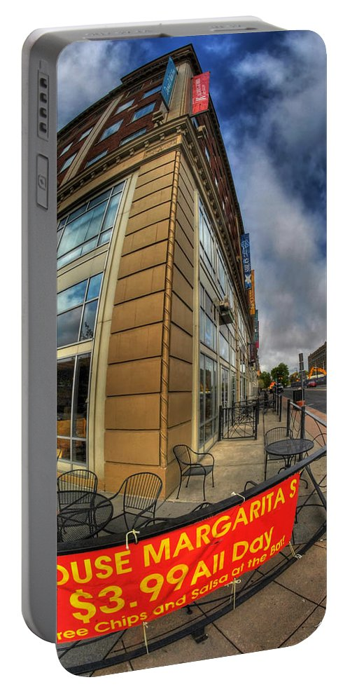 Allentown Portable Battery Charger featuring the photograph 002 Salsaritas by Michael Frank Jr