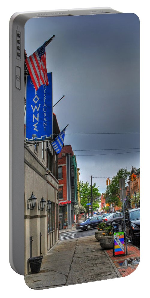 Allentown Portable Battery Charger featuring the photograph 002 Towne Restaurant by Michael Frank Jr