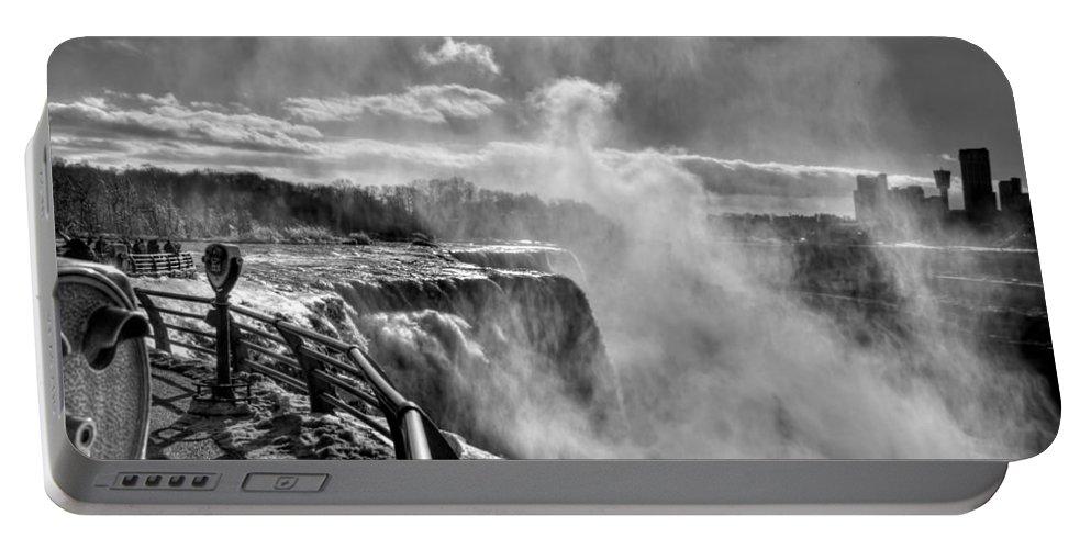 Niagara Falls Portable Battery Charger featuring the photograph 002a Niagara Falls Winter Wonderland Series by Michael Frank Jr