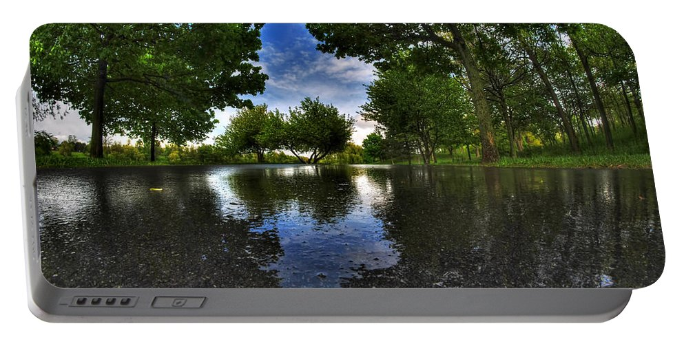Hoyt Lake Portable Battery Charger featuring the photograph 003 After The Rain At Hoyt Lake by Michael Frank Jr