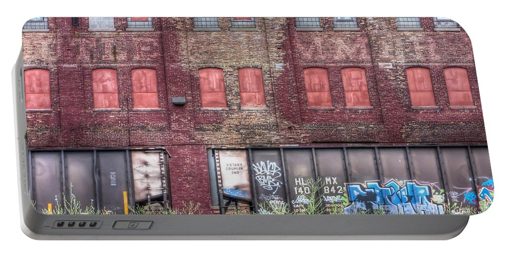 Scenic Portable Battery Charger featuring the photograph 0037 Abandoned Warehouse by Steve Sturgill