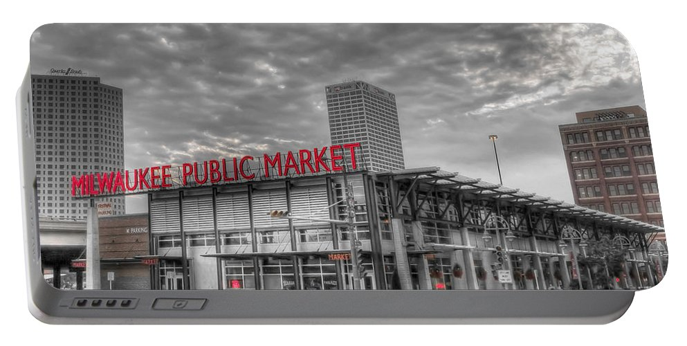 Milwaukee Portable Battery Charger featuring the photograph 0038 Milwaukee Public Market by Steve Sturgill