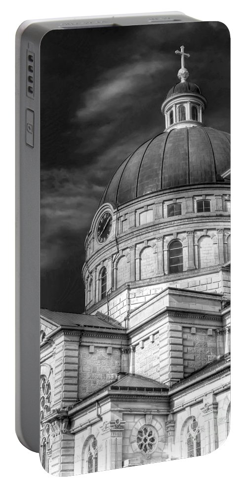 Catholic Portable Battery Charger featuring the photograph 0039 The Basilica Of St. Josaphat by Steve Sturgill