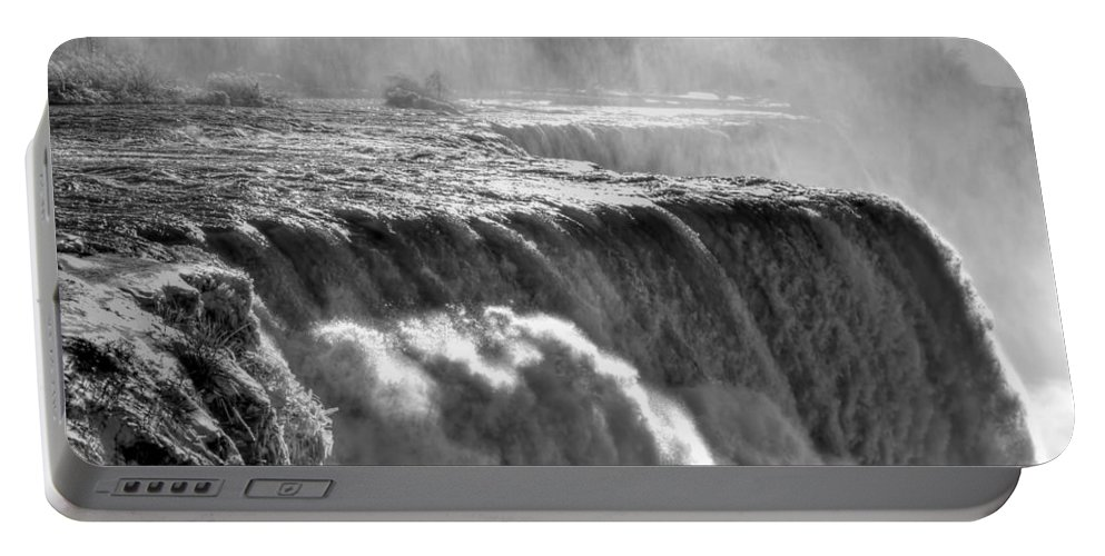 Niagara Falls Portable Battery Charger featuring the photograph 005a Niagara Falls Winter Wonderland Series by Michael Frank Jr