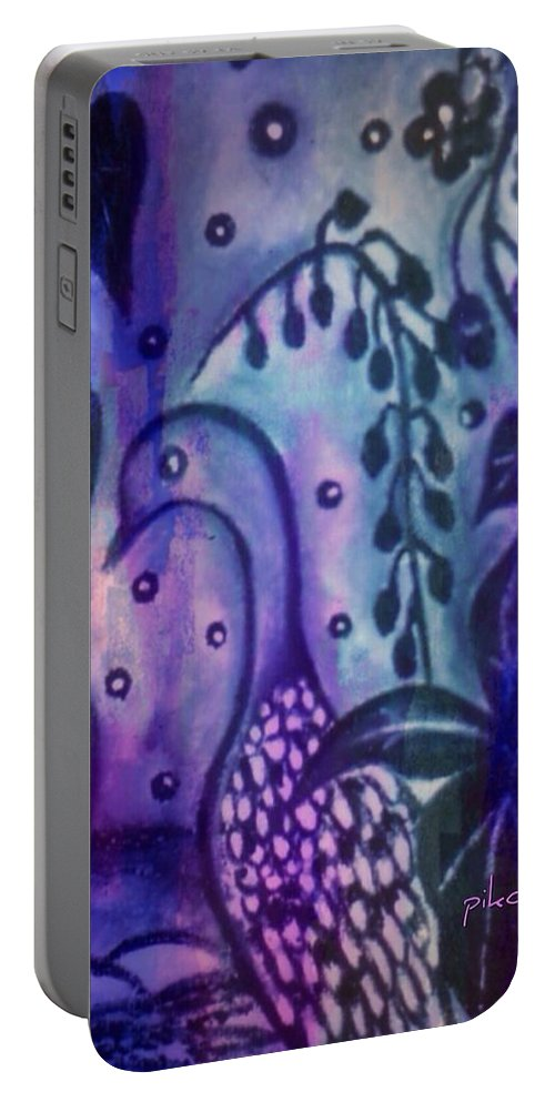Doctor Portable Battery Charger featuring the painting Doctor by Pikotine Art