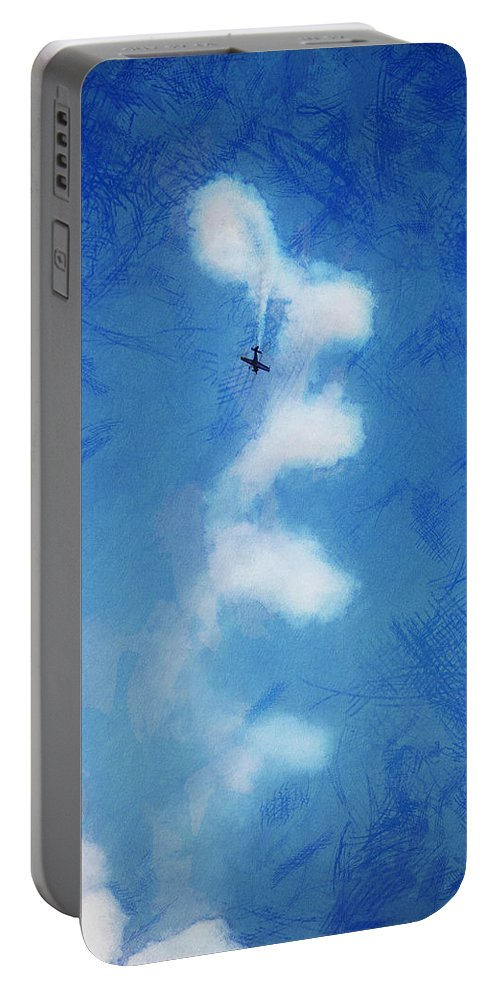 Chicago Portable Battery Charger featuring the digital art 0107 - Air Show - Lux by David Lange