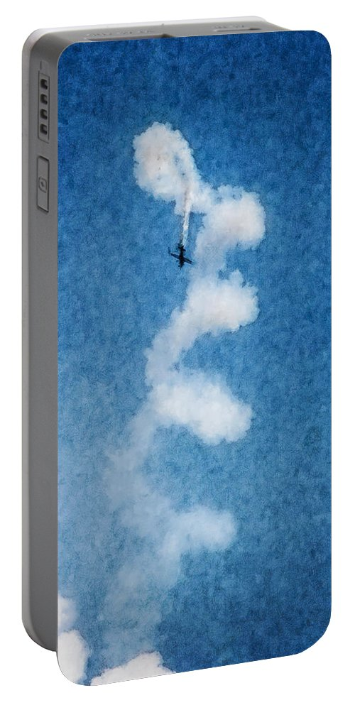 Chicago Portable Battery Charger featuring the digital art 0107 - Air Show - Watercolor 1 by David Lange