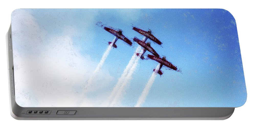 Chicago Portable Battery Charger featuring the digital art 0166 - Air Show - Acanthus by David Lange