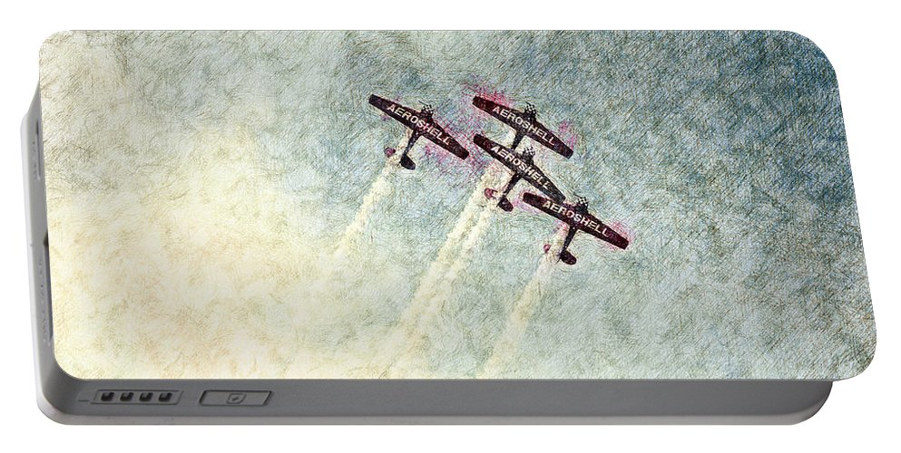 Chicago Portable Battery Charger featuring the digital art 0166 - Air Show - Colored Photo 2 Hp by David Lange