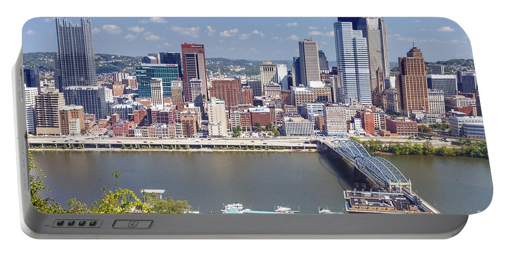 Pittsburgh Portable Battery Charger featuring the photograph 0240 Pittsburgh Pennsylvania by Steve Sturgill