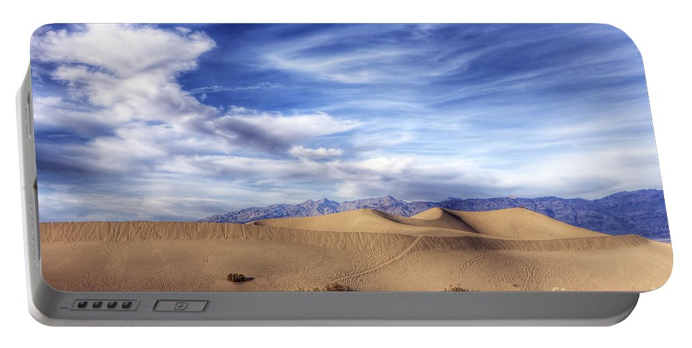 Death Portable Battery Charger featuring the photograph 0292 Death Valley Sand Dunes by Steve Sturgill