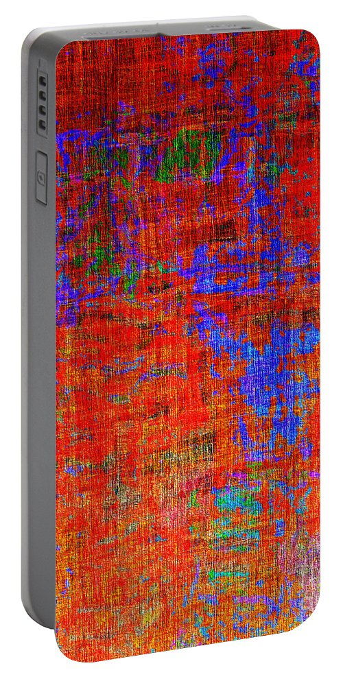 Abstract Portable Battery Charger featuring the digital art 0325 Abstract Thought by Chowdary V Arikatla