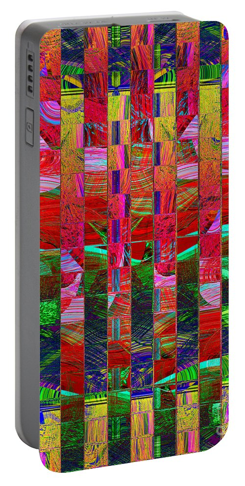 Abstract Portable Battery Charger featuring the digital art 0337 Abstract Thought by Chowdary V Arikatla