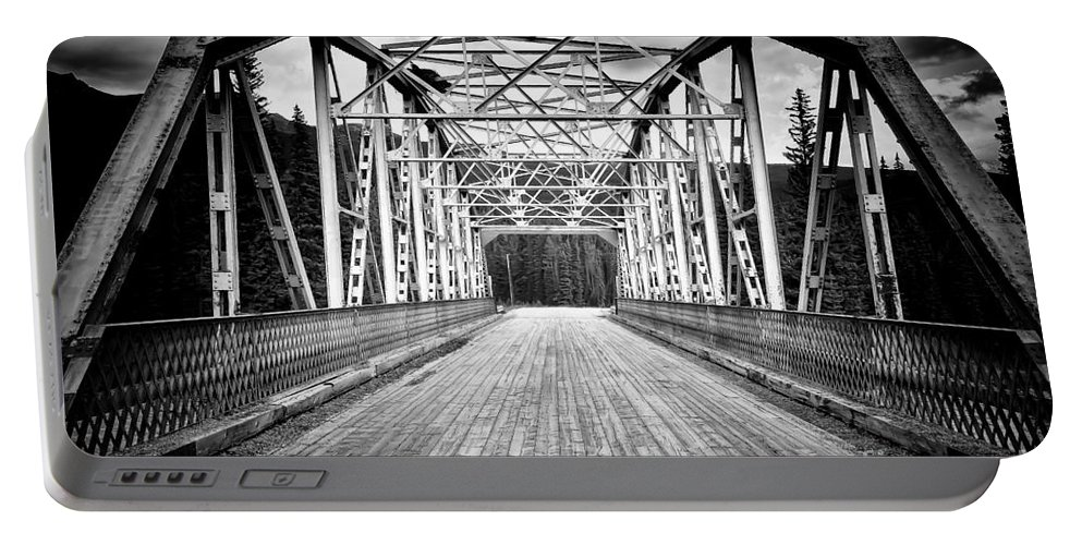 Bow Portable Battery Charger featuring the photograph 0648 Bow River Bridge by Steve Sturgill