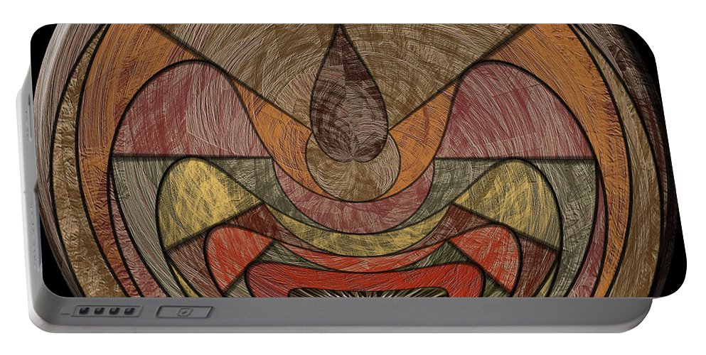 Abstract Portable Battery Charger featuring the digital art 0815 Abstract Thought by Chowdary V Arikatla