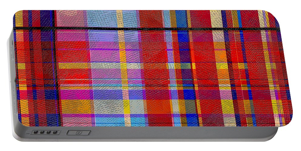 Abstract Portable Battery Charger featuring the digital art 0865 Abstract Thought by Chowdary V Arikatla