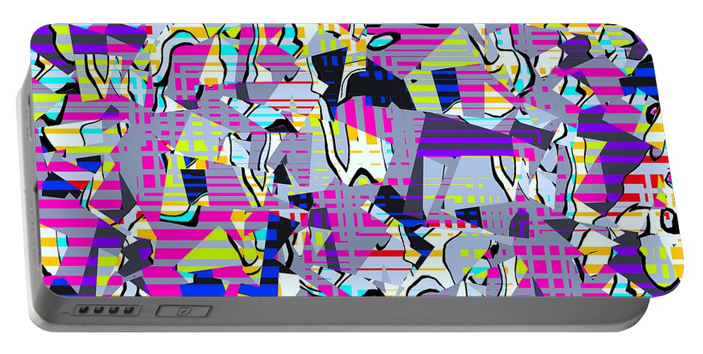 Abstract Portable Battery Charger featuring the digital art 0978 Abstract Thought by Chowdary V Arikatla