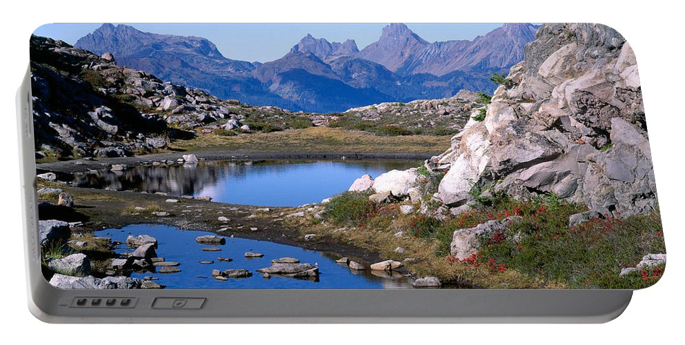 North Cascades Portable Battery Charger featuring the photograph Artist Ridge Tarns by Tracy Knauer