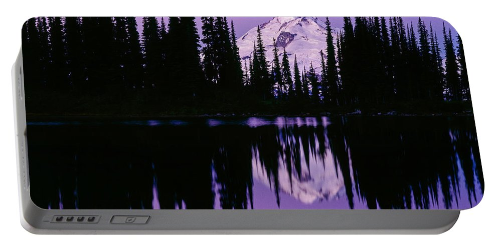 Glacier Peak Portable Battery Charger featuring the photograph Glacier Peak In Image Lake by Tracy Knauer