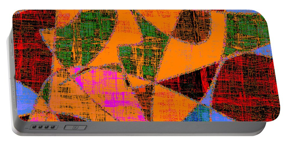 Abstract Portable Battery Charger featuring the digital art 0267 Abstract Thought by Chowdary V Arikatla
