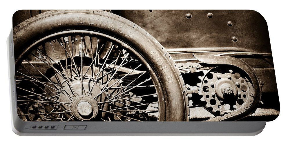 1913 Isotta Fraschini Tipo Im Wheel Portable Battery Charger featuring the photograph 1913 Isotta Fraschini Tipo Im Wheel by Jill Reger