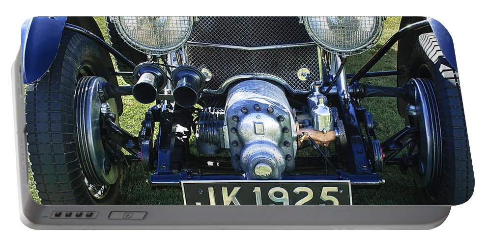 1931 Bentley 4.5 Liter Supercharged Le Mans Grille Portable Battery Charger featuring the photograph 1931 Bentley 4.5 Liter Supercharged Le Mans Grille by Jill Reger
