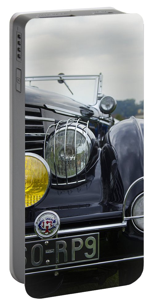 Antique Portable Battery Charger featuring the photograph 1935 Delage by Jack R Perry
