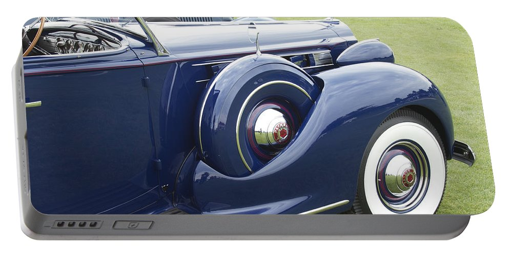 Antique Portable Battery Charger featuring the photograph 1938 Packard by Jack R Perry